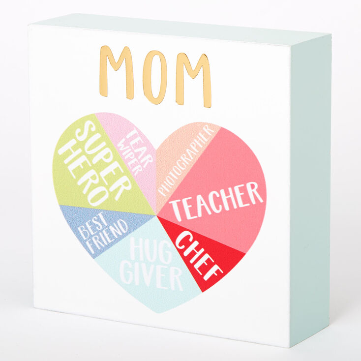 Ways To Describe Mom Word Block - White,