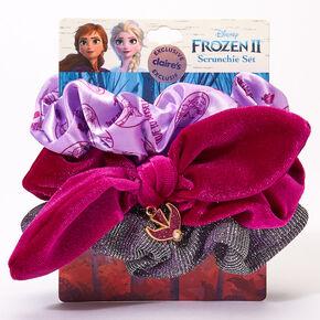 ©Disney Frozen 2 Anna Hair Scrunchies - Purple, 3 Pack,