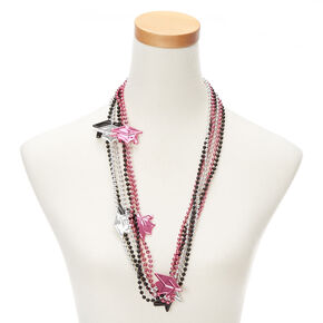 Graduation Cap Beaded Necklaces - 6 Pack,