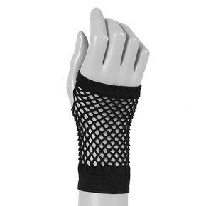 Flash Fishnet Gloves - Black,