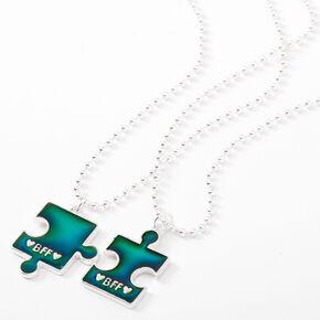 Best Friends Mood Puzzle Pendant Necklaces - 2 Pack,