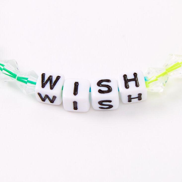 Ombre Rainbow Wish Beaded Stretch Bracelet,