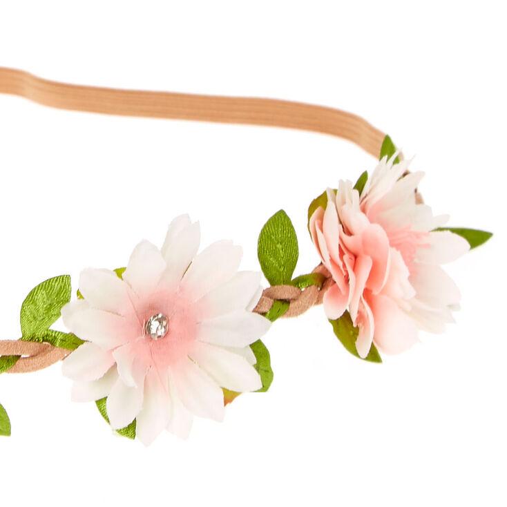 Couronnes de fleurs à pâquerettes blush,