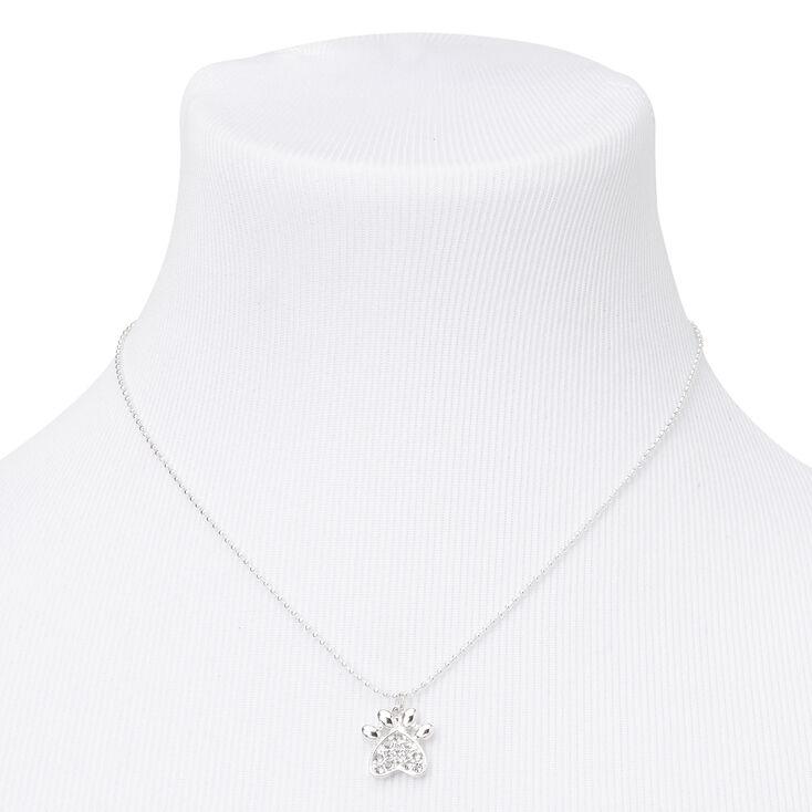 Silver Paw Print Jewellery Gift Set - 3 Pack,