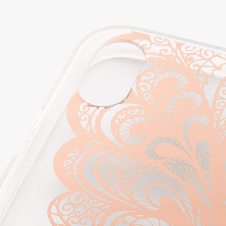 Rose Gold Butterfly Wing Protective Phone Case - Fits iPhone XR,