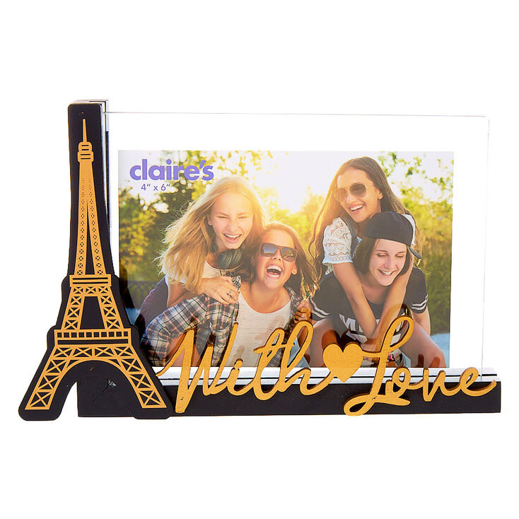 Paris With Love Photo Frame - Black,