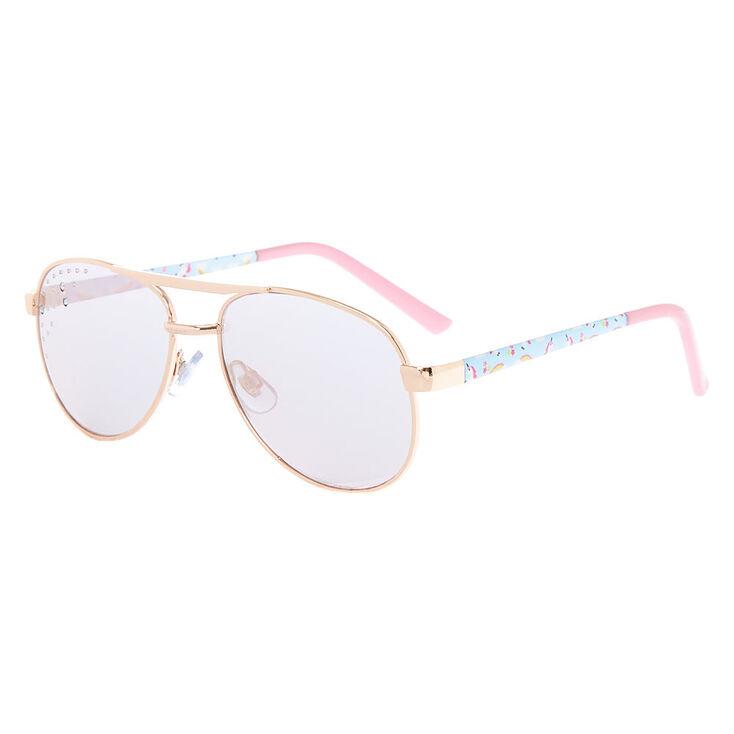 c20a4a4113 Claire  39 s Club Unicorn Aviator Sunglasses - Pink