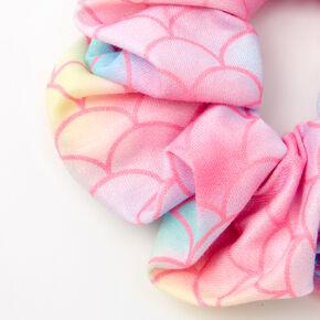 Medium Mermaid Scale Hair Scrunchie - Pink,
