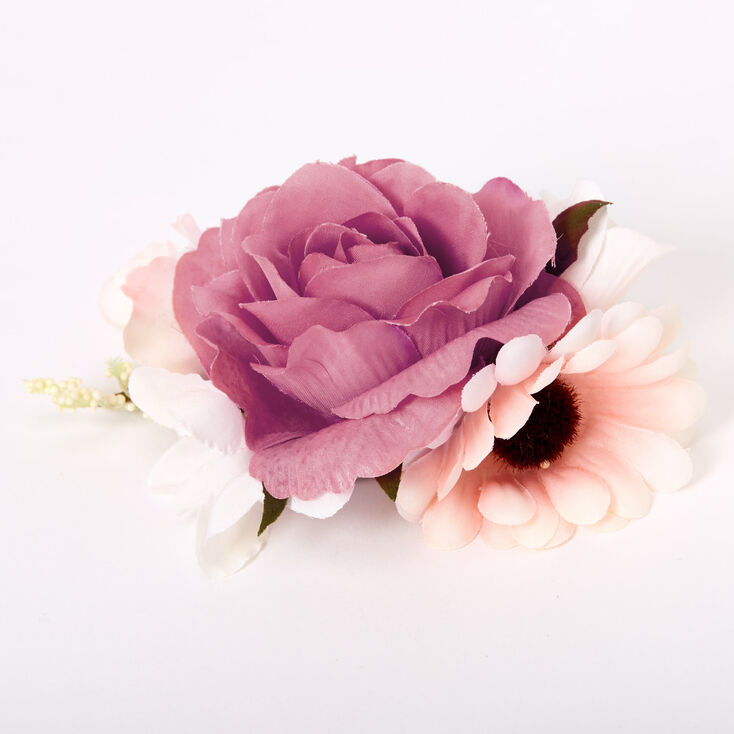 Bouquet Of Roses Hair Clip - Pink,