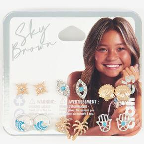 Sky Brown™ Mystical Mixed Metal  Earrings - 6 Pack,