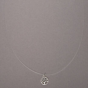 Silver Tree Of Life Illusion Pendant Necklace,