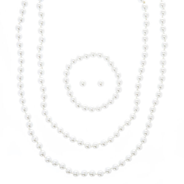 Claire's - faux pearl jewelry set - 1