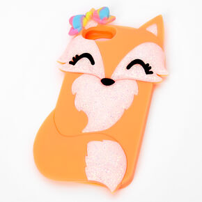 Orange Pretty Fox Silicone Phone Case - Fits iPhone 6/7/8/SE,