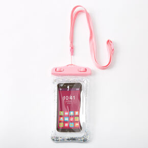 Glitter Waterproof Floating Phone Pouch - Pink,