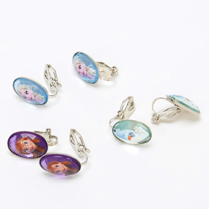 Boucles d'oreilles à clip couleur argentée La Reine des Neiges2 ©Disney - Lot de 3,