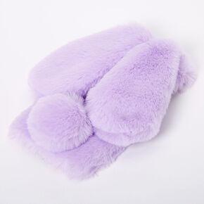 Purple Fur Bunny Phone Case - Fits iPhone XR,