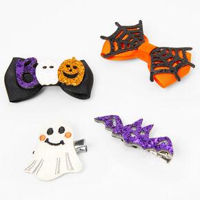 Barrettes à nœud variées Halloween - Lot de 4,