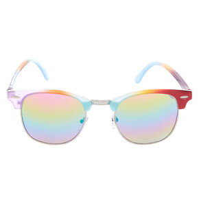 Rainbow Half Frame Retro Sunglasses,