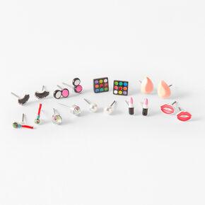 Favorite Makeup Stud Earrings - 9 Pack,