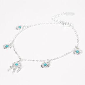 Silver Dreamcatcher Chain Anklet,