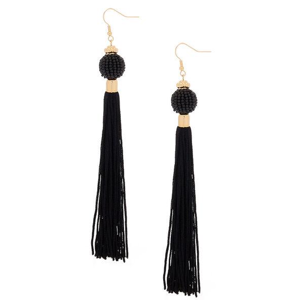 "Claire's - 5"" vintage design tassel drop earrings - 1"