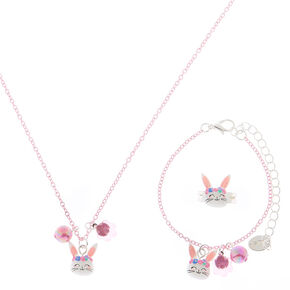 Claire's Club Claire the Bunny Jewellery Set - Pink, 3 Pack,