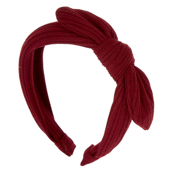 Claire's - ribbed knotted bow headband - 1