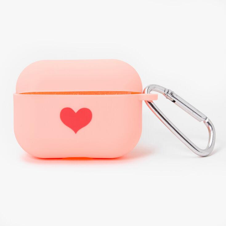 Étui pour écouteurs en silicone rose motif cœur - Compatible avec les AirPods Pro® de Apple,