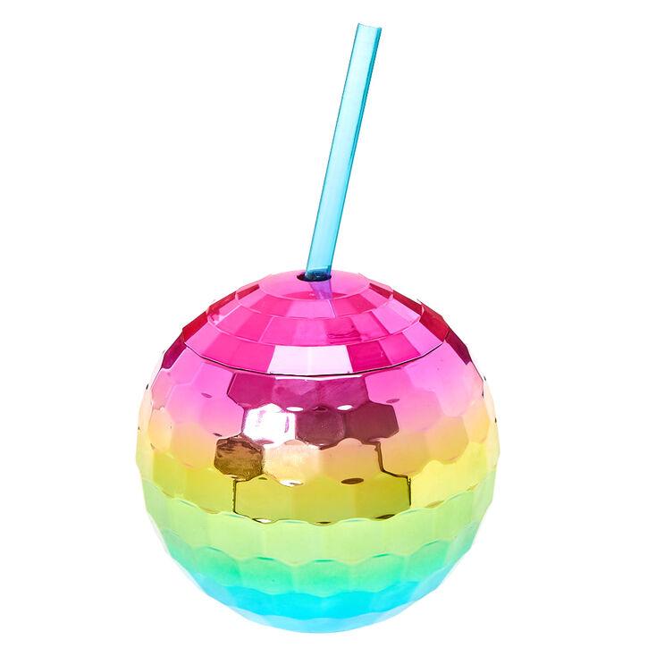 Rainbow Disco Ball Drinking Cup,