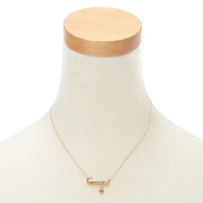 Gold Zodiac Pendant Necklace - Gemini,
