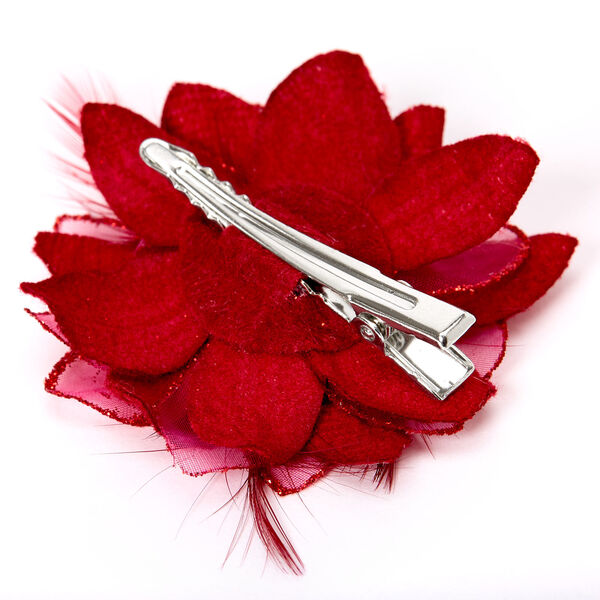 Claire's - feather lily hair clips - 2