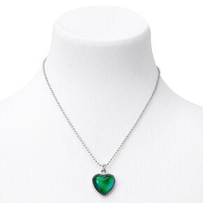 Glitter Heart Mood Pendant Necklace,