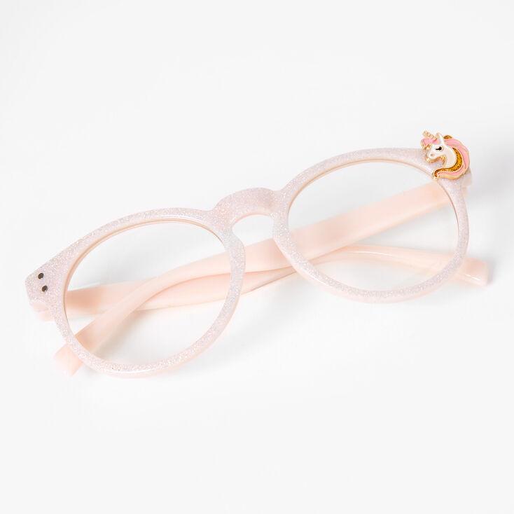 Claire's Club Glitter Unicorn Clear Lens Frames,