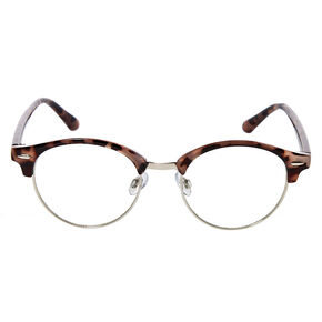 Tortoiseshell Browline Clear Lens Frames,