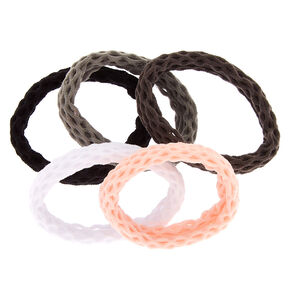 Fishnet Rolled Hair Ties - 5 Pack,
