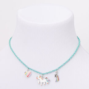 Claire's Club Rainbow Unicorn Jewellery Set - Turquoise, 2 Pack,