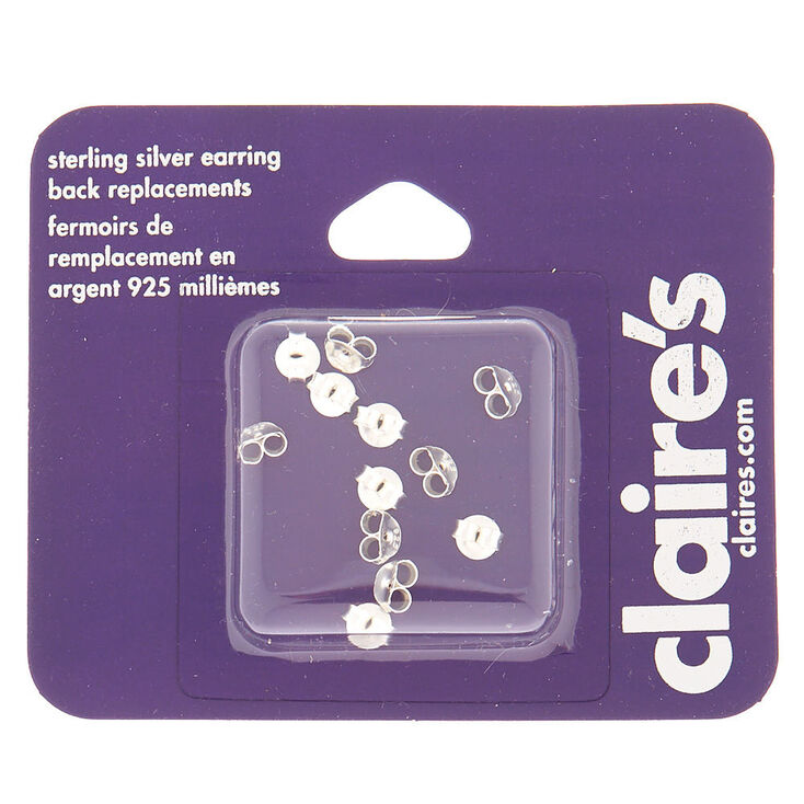 Sterling Silver Earring Back Replacements - 12 Pack,