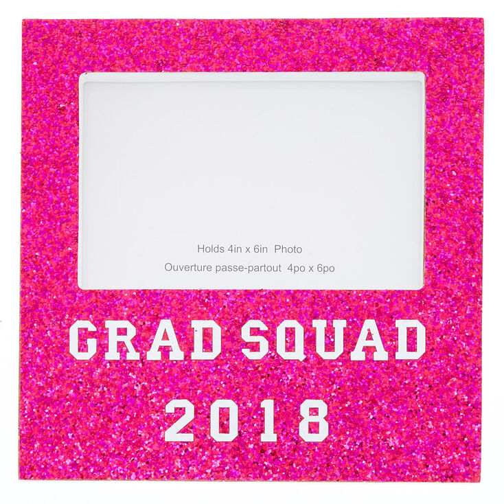 Glitter Grad Squad 2018 Photo Block Pink Claires Us
