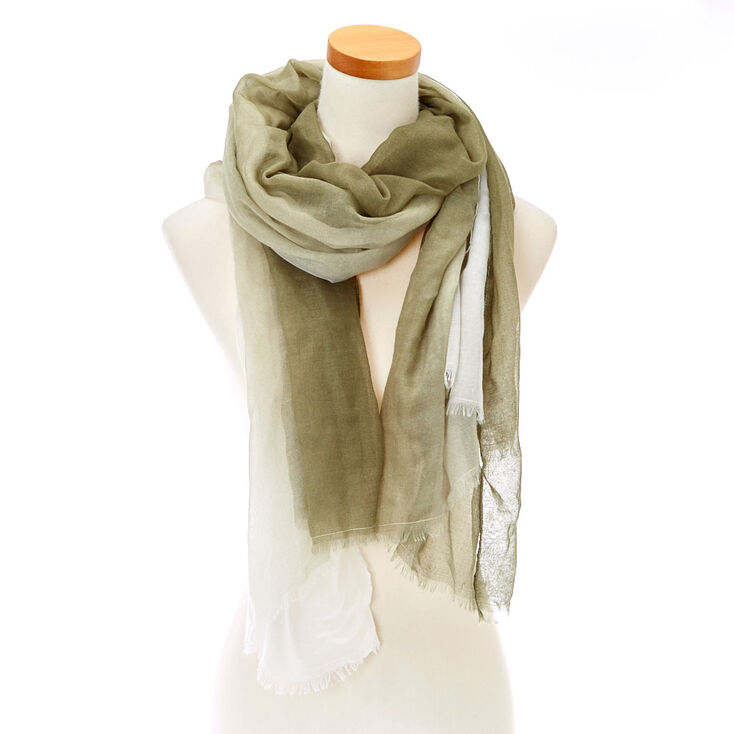 Green & Ivory Ombre Scarf,