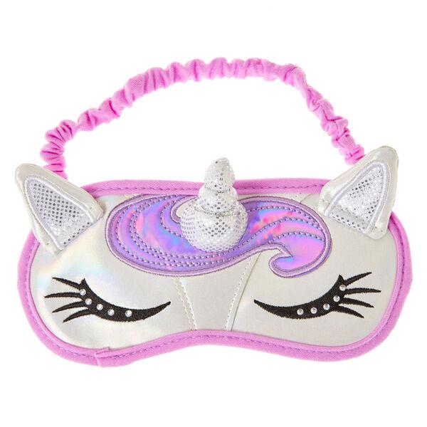 Claire's - unicornsleep mask with horn & ears - 1