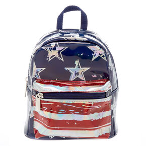 American Flag Small Backpack - Blue,