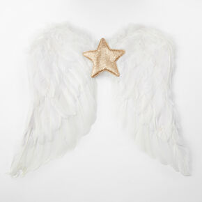 Feather Nativity Angel Wings - White,