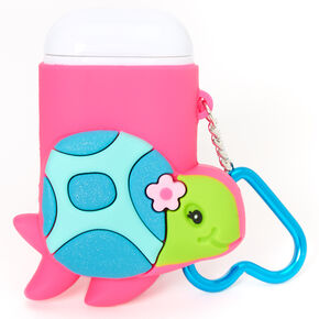 Tessa the Turtle Reusable Collapsible Straw Keychain - Pink,