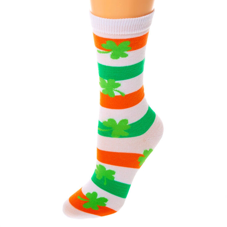 Socquettes à rayures drapeau irlandais,