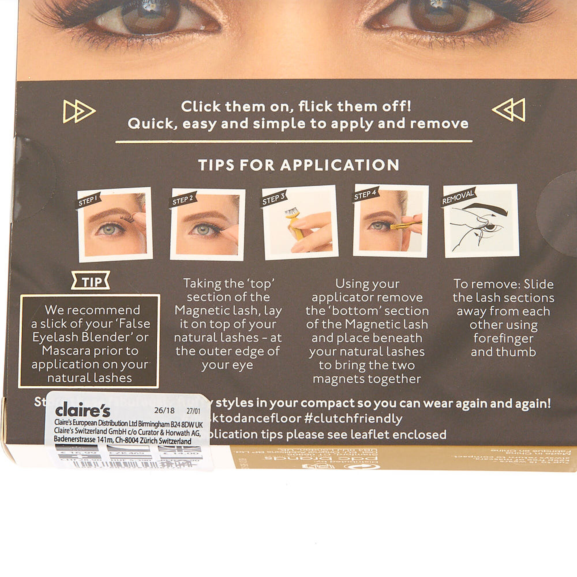 65397bacd68 Eylure Luxe Magnetic Mink Corner Lashes - Baroque | Claire's