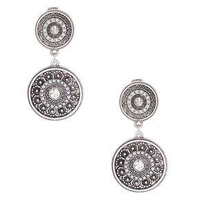 1 5 Clip On Circle Drop Earrings