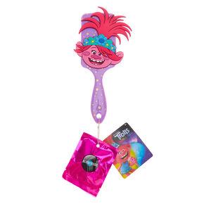 Trolls World Tour Poppy Paddle Hair Brush & Surprise – Purple,