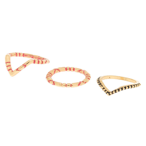 Claire's - textured midi rings - 1