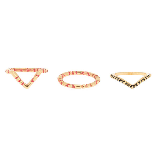Claire's - textured midi rings - 2