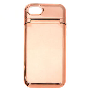 Rose Gold Mirror Protective Phone Case - Fits iPhone 6/7/8/SE,